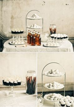 Dessert table #ido #inspiration #white #wedding #winter