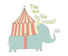 Take me to the Circus 8x10 Quirky Illustration Print. $30.00, via Etsy.