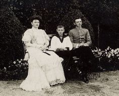 Archduchess Maria Josefa of Austria (1867-1944) and sons Karl and Maximilian, 1910.