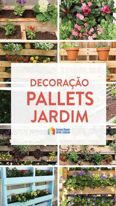 Veja dicas lindas para criar uma decoração de jardim com paletes. Com toda a certeza você vai se apaixonar por essas ideias simples com muito paisagismo. Patio, Bar, Garden, Design, Vertical Succulent Gardens, Indoor Vertical Gardens, Small Balconies, Small Vegetable Gardens, Pallet Gardening