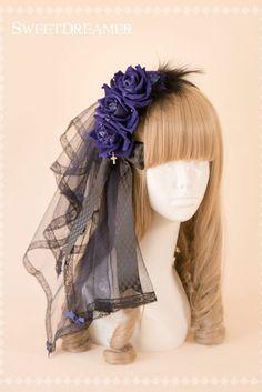 Lolita Fashion, Gothic Fashion, Asian Fashion, Headdress, Headpiece, Hand Accessories, Black Swan, Visual Kei, Gothic Lolita