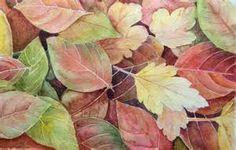 Original watercolor painting ... 'Autumn Leaves' 32cm