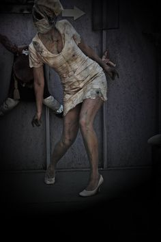 Bubble Head Nurse Dress and Mask Silent Hill