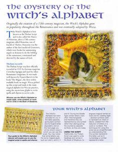Witch's Alphabet....