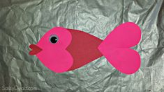 valentine day heart fish craft
