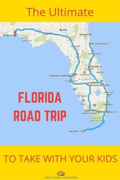 Florida Road Trip. From history to beaches to crystal clear springs this is the ultimate Florida road trip to take with your kids! Places to visit, sites to see, campgrounds and hotels to stay at. Family Travel at its best!