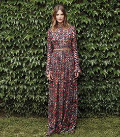 Floral Sleeved Maxi / Tori Burch