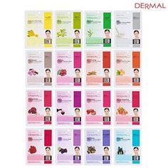 Dermal Korea Collagen Essence Full Face Facial Mask Sheet...