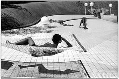 Swimming pool designed by Alain Capeilleres, Le Brusc, France by Martine Franck.