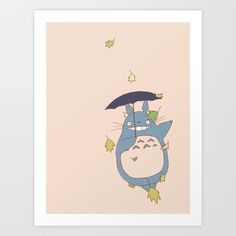 Totoro Art Print by Brane. Worldwide shipping available at Society6.com. Just one of millions of high quality products available.