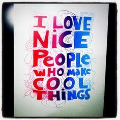 I see nice people