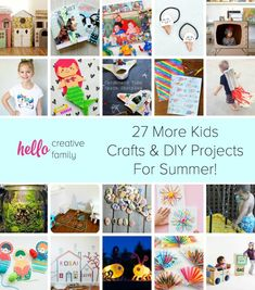 Diy Summer Projects For Kids Looking For Ways To Keep Your Children Entertained During Summer Break Hello Creative Family Pulled At Home Crafts For Kids, Diy Crafts For Girls, Diy Projects For Kids, Family Crafts, Easy Crafts For Kids, Easy Diy Crafts, Toddler Crafts, Diy Crafts Videos, Creative Crafts