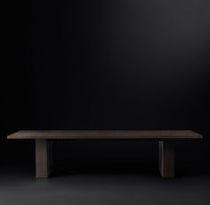 RH's Seagram Rectangular Dining Table:With its commanding presence, the Seagram table epitomizes elegance in a simple form. Designed by Søren Rose, its expansive plank top is balanced by inset supports for a postmodern-inspired contrast of scale and form.
