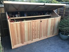 Using sustainable UK grown timber and quality components, our secure, wooden bike sheds are hand-built to the highest standards. With superior strength and natural weather resistance, Douglas Fir timber will last for years without the need of harmful chemical treatments. Bicycle Storage, Bike Shed, Douglas Fir, Sheds, Storage Solutions, Strength, Weather, Natural, Garden