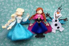 Frozen Inspired Hair Clips By CuTey CLipS Hair Accessories Www.etsy.com/shop/christinaland128