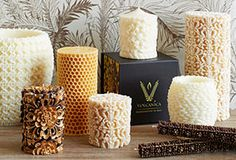 Hand-carved in Bali from a blend of beeswax and palm wax, these candles are nothing less than sculptural works of art.