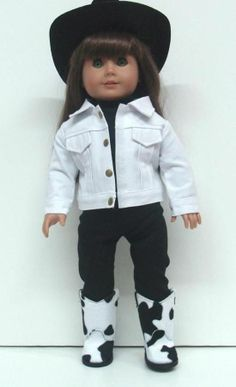 "BOOTS + JACKET + TOP + PANTS - 18"" Girl Doll Clothes - An American Boutique"