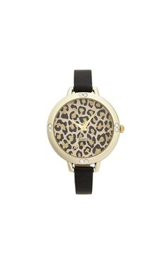 Titanium Leopard Face Skinny Watch, 40mm (Juniors) available at #Nordstrom