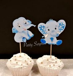 Elephant Cupcake Toppers Blue Elephant Toppers Boy Baby Shower Elephant Decor Custom Hand Made Baby Elephant Baby Boy Shower by PartySurprise on Etsy elephantbabyboy Elephant Baby Boy, Elephant Baby Showers, Baby Boy Shower, Bubble Balloons, Confetti Balloons, Latex Balloons, Safari Party Decorations, Birthday Decorations, Elephant Cupcakes