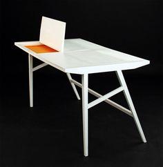 modern integrated hidden table laptop design - ikea