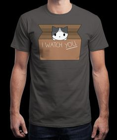 """""""I watch you!"""" is today's £8/€10/$12 tee for 24 hours only on www.Qwertee.com Pin this for a chance to win a FREE TEE this weekend. Follow us on pinterest.com/qwertee for a second! Thanks:)"""