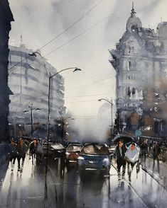 Watercolor painting by Maria Cornea Bucharest, Watercolour Painting, Online Art Gallery, Google Images, The Originals, Drawings, Modern, Artist, Romania