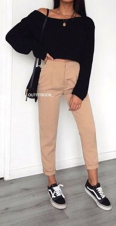 100 fashion-forward outfits that can now be copied . - Martha Lear - 100 fashion-forward outfits that can now be copied …, … 100 fashio - Spring Fashion Outfits, Winter Outfits, Summer Outfits, Winter Ootd, Ootd Spring, 30 Outfits, Skirt Outfits, Winter Fashion, Black And White Vans
