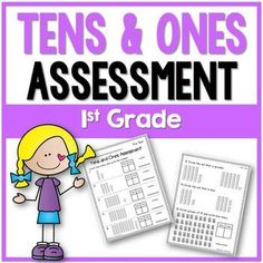 This 1st grade Tens and Ones Assessment covers tens and ones to 99, writing numbers, and grouping 10s. It consists of 15 questions which are easy to administer and easy to grade. This resource includes a Tens and Ones Pre-Test and a Post-Test. Check out the preview to see the assessment.Check out some of my other productsSubtraction Fact FluencyAddition Fact FluencySubitizing Made EasyFollow meFollow me on Teachers Pay Teachers.Click on the green star *Follow my blog for teaching…