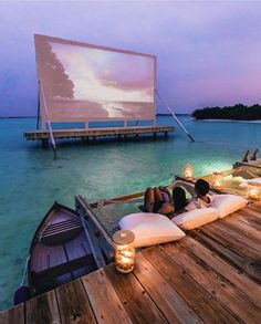 Movie projector in Maldives? Movie projector in Maldives? Vacation Places, Vacation Destinations, Dream Vacations, Vacation Spots, Vacation Movie, Vacation Wear, Tourist Spots, Holiday Destinations, Dream Dates
