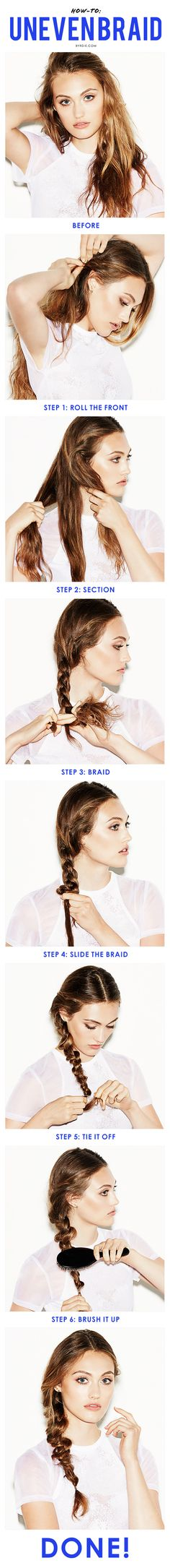 How to create a textured uneven braid (and look totally chic).