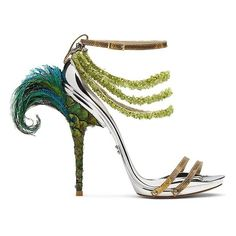 Gianluca Tamburini's Fantasy Shoes Combine Art, Travel and the... ❤ liked on Polyvore featuring shoes, heels, travel shoes and car racing shoes