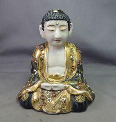 Japonés antiguo SATSUMA MORIAGE Buda Quemador de incienso firmado-Lámpara Base Meiji in Antiques, Asian/Oriental Antiques, Japanese   eBay