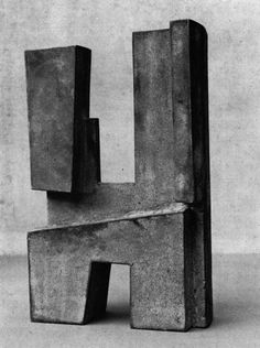 Robert Adams ● Rectangular Form No 3 ● 1955 Concrete Sculpture, Art Sculpture, Abstract Sculpture, Wire Sculptures, Bronze Sculpture, Contemporary Sculpture, Contemporary Art, Objet D'art, Land Art