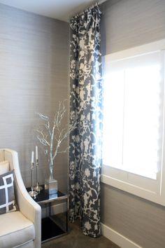 Platinum gray grasscloth wallpaper