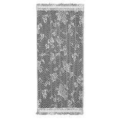 Heritage Lace English Ivy Wide by Drop Sidelight Panel, White Country Curtains, Lace Curtains, Bathroom Window Treatments, Curtain Rings With Clips, Ivy Leaf, Acoustic Panels, Living Styles, White Paneling, Roller Blinds