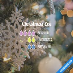 Christmas Eve — Essential Oil Diffuser Blend - New Ideas Essential Oil Scents, Essential Oil Diffuser Blends, Essential Oil Uses, Doterra Essential Oils, Doterra Diffuser, Design Facebook, Essential Oil Combinations, Living Oils, Christmas Eve