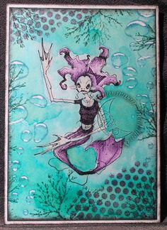 Artwork created by Arwen McCullen using rubber stamps designed by Daniel Torrente for Stampotique Originals