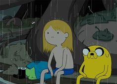 Aburrido cuando llueve