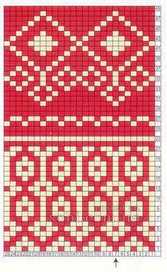 "Вязание. Варежки с жаккардом - ""Зимняя радуга"" | VK Knitting Charts, Loom Knitting, Knitting Stitches, Hand Knitting, Knitting Patterns, Knitting Tutorials, Vintage Knitting, Fair Isle Chart, Tapestry Crochet Patterns"