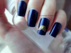 Dias things: NOTD: Blue and Bornprettystore foil metal sticker!