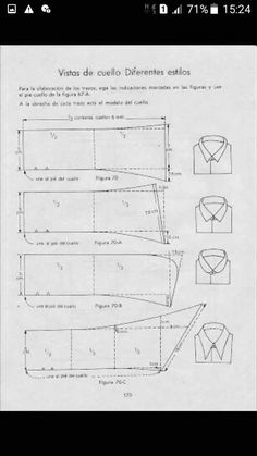 More collar variations Sewing Blouses, Sewing Shirts, Techniques Couture, Sewing Techniques, Dress Sewing Patterns, Clothing Patterns, Shirt Collar Pattern, Sewing Collars, Modelista