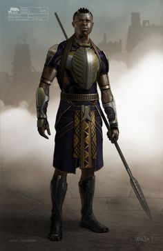 m Fighter Hvy Armor Spear desert keep ArtStation - Black Panther- Citidel Guard concepts, Keith Christensen Black Characters, Dnd Characters, Fantasy Characters, Superhero Characters, Fictional Characters, Fantasy Armor, Dark Fantasy, Medieval Fantasy, Fantasy Art Warrior