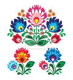 """Stickers """"wrapping, fashion, romantic - polish floral folk embroidery pattern"""" ✓ Easy Installation ✓ 365 Day Money Back Guarantee ✓ Browse other patterns from this collection!"""