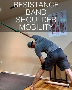 Shoulder Mobility Exercises, Rotator Cuff Exercises, Resistance Band Exercises, Back And Shoulder Workout, All Body Workout, Shoulder Training, Shoulder Pain Relief, Shoulder Injuries, Yoga For Flexibility
