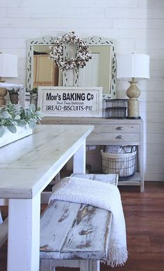 Lasting farmhouse dining room table and decorating ideas (3)