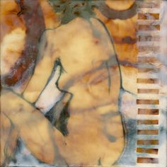 Oxide Figurative Encaustic Painting by Pam Nichols