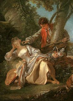 The Interrupted Sleep: 1750 by Francois Boucher (Metropolitan Museum of Art - New York, NY) - Rococo