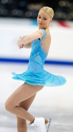 from Graham Sherwood - Kiira Korpi Foto Sport, Dance Costumes Lyrical, Figure Skating Costumes, Ice Skaters, Sexy Legs And Heels, Figure Skating Dresses, Sporty Girls, Ice Queen, Athletic Women