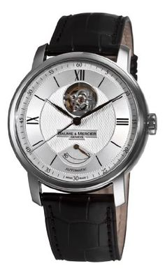 Baume Mercier Men's 8869 Classima Executives Open Silver Guilloche Dial Watch #best #sellers #luxury #watches