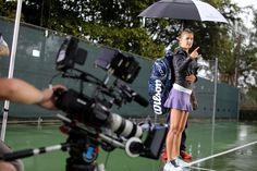 On set with Victoria Azarenka at our 2013 video shoot in Miami